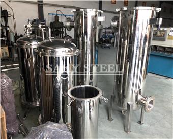 stainless steel cartridge bag filter housing