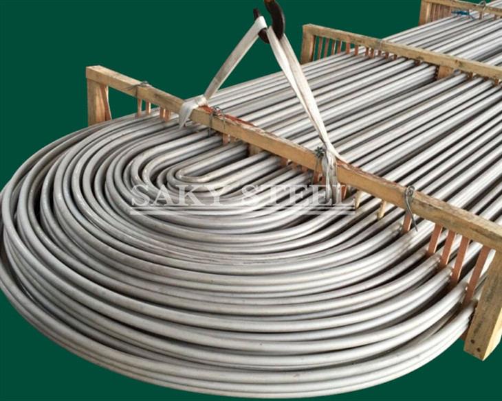 U exchanger stainless steel pipe